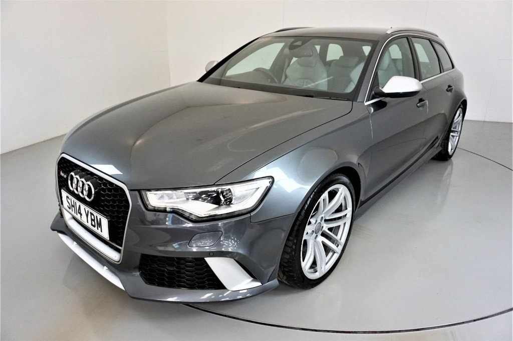 USED 2014 14 AUDI RS6 AVANT 4.0 RS6 AVANT TFSI V8 QUATTRO 5d AUTO 560 BHP-1 OWNER FROM NEW-SPORTS EXHAUST-MATT ALUMINIUM STYLING PACKAGE-HEATED FORNT AND REAR SEATS-VALCONA LEATHER UPHOLSTERY-BOSE SOUND SYSTEM-XENON PLUS LIGHTS-20