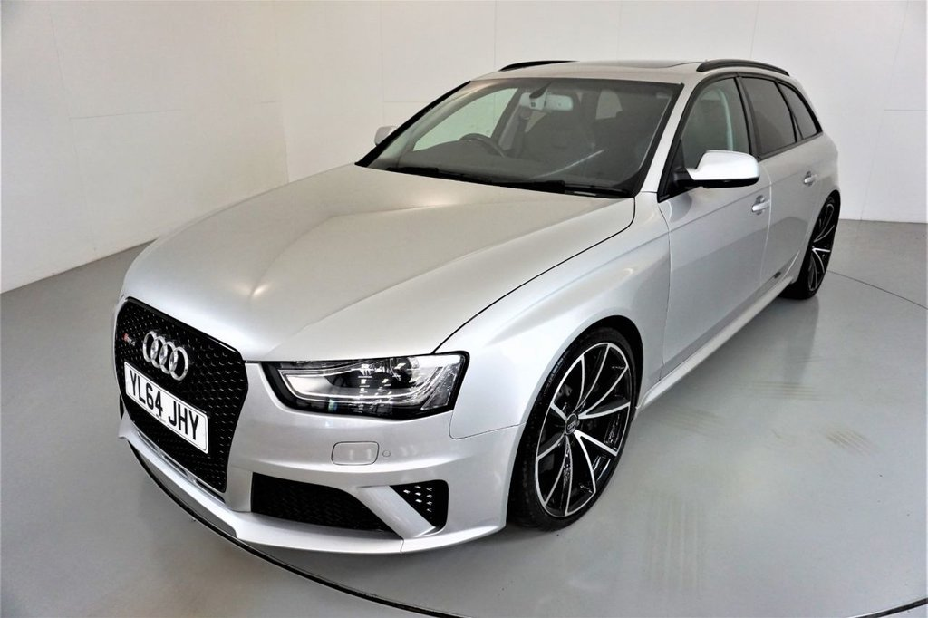 USED 2015 64 AUDI RS4 AVANT 4.2 RS4 AVANT FSI QUATTRO 5d AUTO 444 BHP-BANG AND OLUFSEN SOUND-OPEN SKY PANORAMIC SUNROOF-HEATED BLACK FINE NAPPA LEATHER-ELECTRIC FOLDING MIRRORS-BLACK STYLING PACKAGE-PIANO BLACK INTERIOR FINISH-PRIVACY GLASS-20