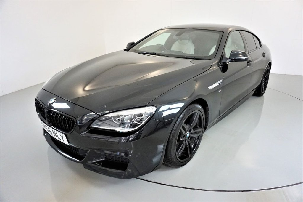 USED 2016 66 BMW 6 SERIES 3.0 640D M SPORT GRAN COUPE 4d-HEATED IVORY WHITE DAKOTA LEATHER-BLUETOOTH-CRUISE CONTROL-PROFESSIONAL NAVIGATION-PARKING SENSORS-DAB RADIO-CLIMATE CONTROL