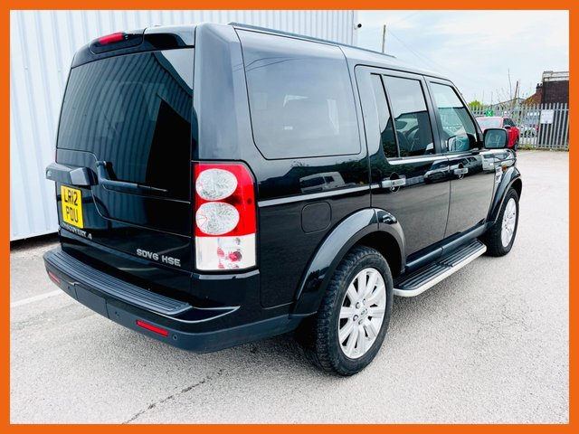 USED 2012 12 LAND ROVER DISCOVERY 3.0 4 SDV6 HSE 5d 255 BHP FULL SERVICE HISTORY - MOT MARCH 2022 - FREE VIEW TV /DVD - HEATED STEERING WHEEL - HEATED FRONT & REAR SEATS - 3 MONTH WARRANTY