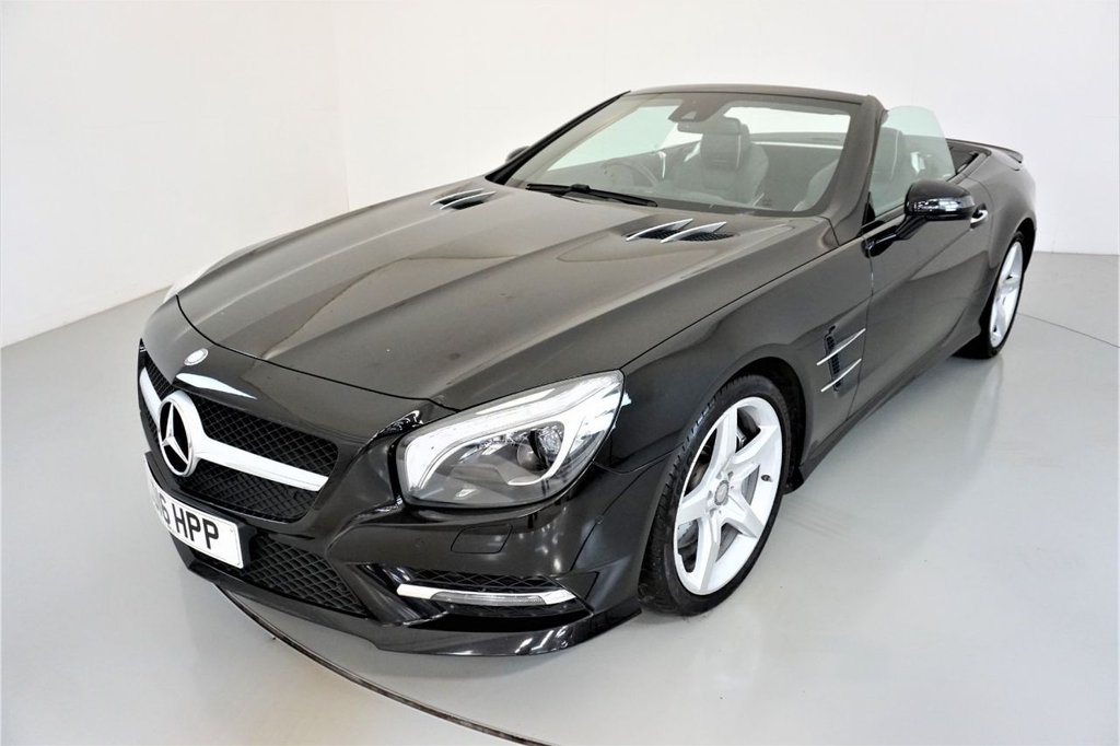 USED 2016 16 MERCEDES-BENZ SL 3.0 SL400 AMG SPORT 2d AUTO-PANORAMIC ROOF-HEATED BLACK LEATHER-AIR SCARF-19
