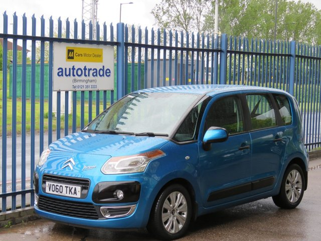 USED 2010 60 CITROEN C3 PICASSO 1.6 AIRDREAM PLUS HDI 5d 90 BHP. LOW TAX-AIR CON-CD RADIO-SERVICE HISTORY WITH 9 STAMPS TO 39K AIR CON-BLUETOOTH-CD RADIO-ABS-SERVICE HISTORY WITH 9 STAMPS