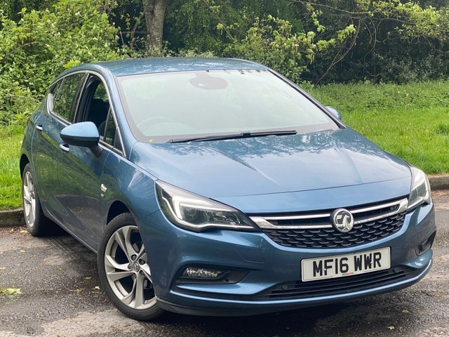 USED 2016 16 VAUXHALL ASTRA 1.4 SRI 5d LOW MILEAGE, MAIN DEALER SERVICE HISTORY, MOT UNTIL MARCH 2022, BLUETOOTH, CRUISE CONTROL
