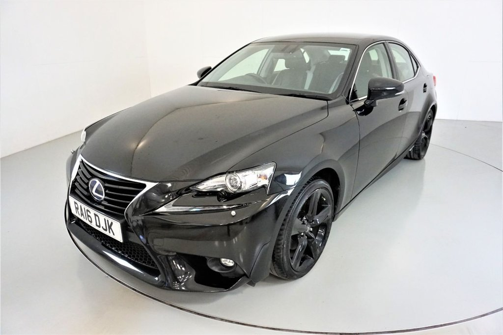 USED 2016 16 LEXUS IS 2.5 300H SPORT 4d AUTO-1 OWNER CAR-HEATED HALF LEATHER-BLUETOOTH-CRUISE CONTROL-SATNAV-PARKING SENSORS-CLIMATE CONTROL-18