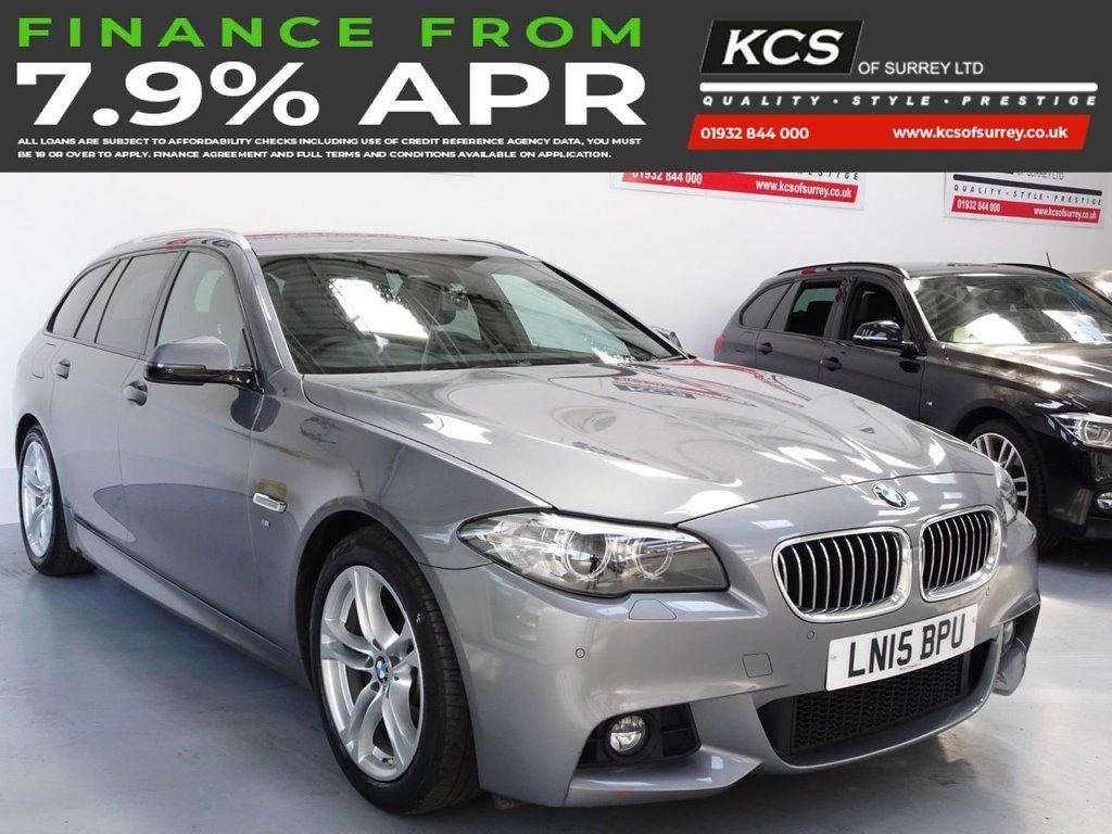 USED 2015 15 BMW 5 SERIES 2.0 520D M SPORT TOURING 5d 188 BHP PRO NAV - CAMERA - XENONS