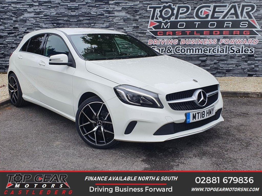 USED 2018 18 MERCEDES-BENZ A-CLASS A 180 D 1.5 110BHP SPORT EDITION AUTO ** SERVICE HISTORY, VAT QUALIFYING, AIR CON, SAT NAV ** OVER 90 VEHICLES IN STOCK