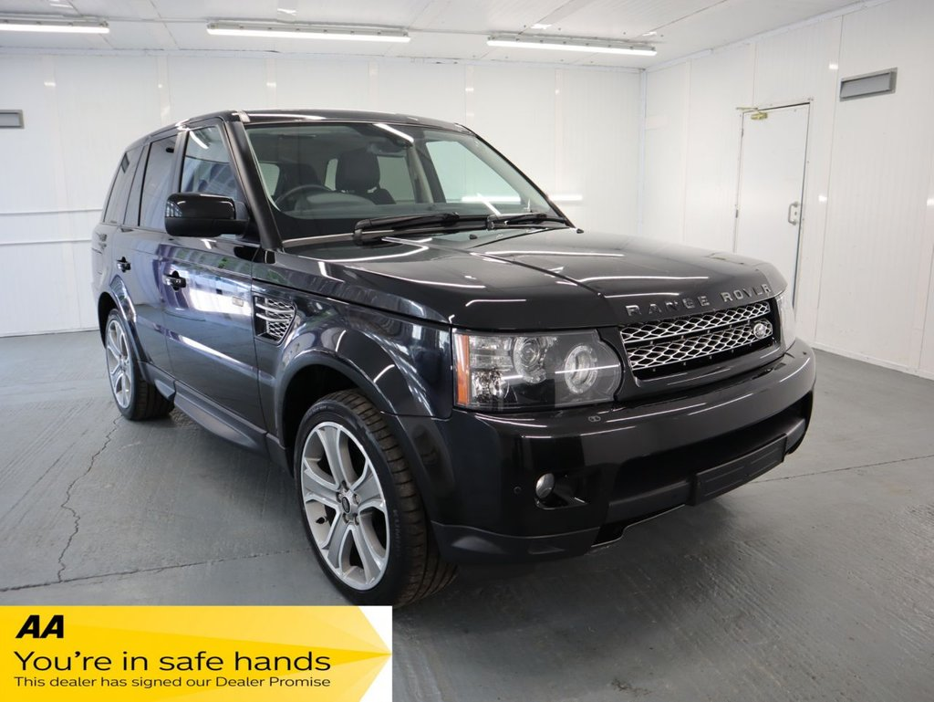 USED 2013 13 LAND ROVER RANGE ROVER SPORT 3.0 SDV6 HSE BLACK 5d 255 BHP WITH ONE OWNER FROM NEW, ONLINE SERVICE RECORD PRINT OUT FROM LAND ROVER AND ALSO RECEIPT FOR TIMING BELT COMPLETED 09/2020 AT 68,827 MILES