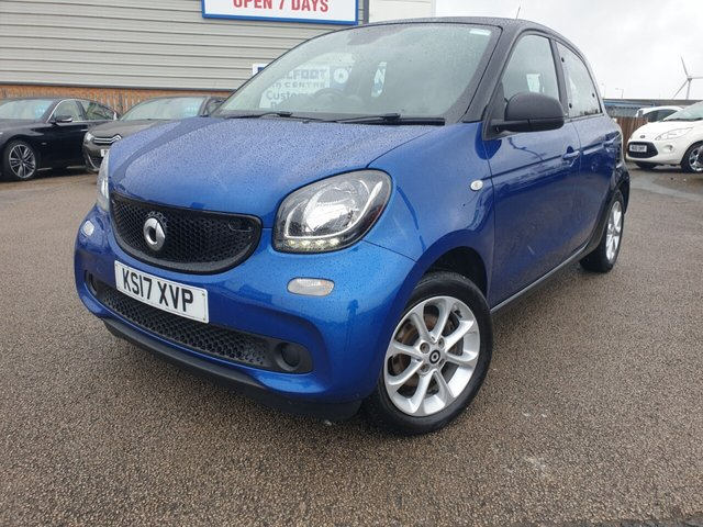 USED 2017 17 SMART FORFOUR 1.0 PASSION 5d 71 BHP *** FINANCE & PART EXCHANGE WELCOME *** BLUETOOTH PHONE AIR/CON CRUISE CONTROL AUX & USB SOCKETS