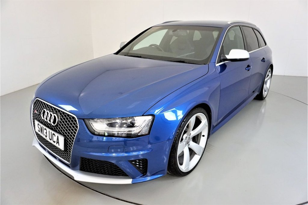 USED 2013 13 AUDI RS4 AVANT 4.2 RS4 AVANT FSI QUATTRO 5d AUTO 444 BHP-2 FORMER KEEPERS-HEATED BLACK NAPPA LEATHER-CRUISE CONTROL-SATNAV-PARKING SENSORS-BANG AND OLUFSEN SOUND-CLIMATE CONTROL-PRIVACY GLASS-ELECTRIC FOLDING MIRRORS-POWER TAILGATE-SPORTS EXHAUST-PRIVACY GLASS-ELECTRIC MEMORY SEAT