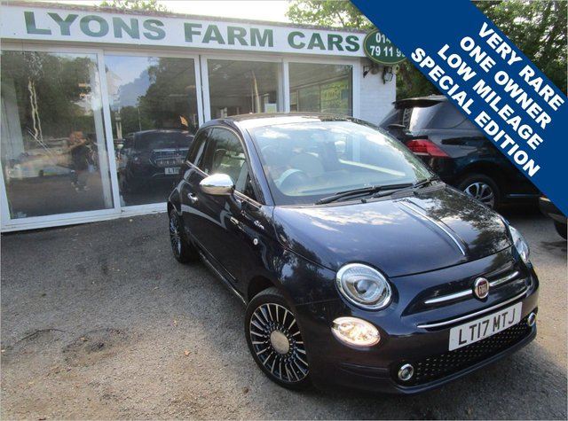 USED 2017 17 FIAT 500 1.2 RIVA 3d 69 BHP *VERY RARE SPECIAL EDITION* Low Mileage, One Owner, Main Dealer Service History + Just Serviced, MOT until April 2022, Great fuel economy!