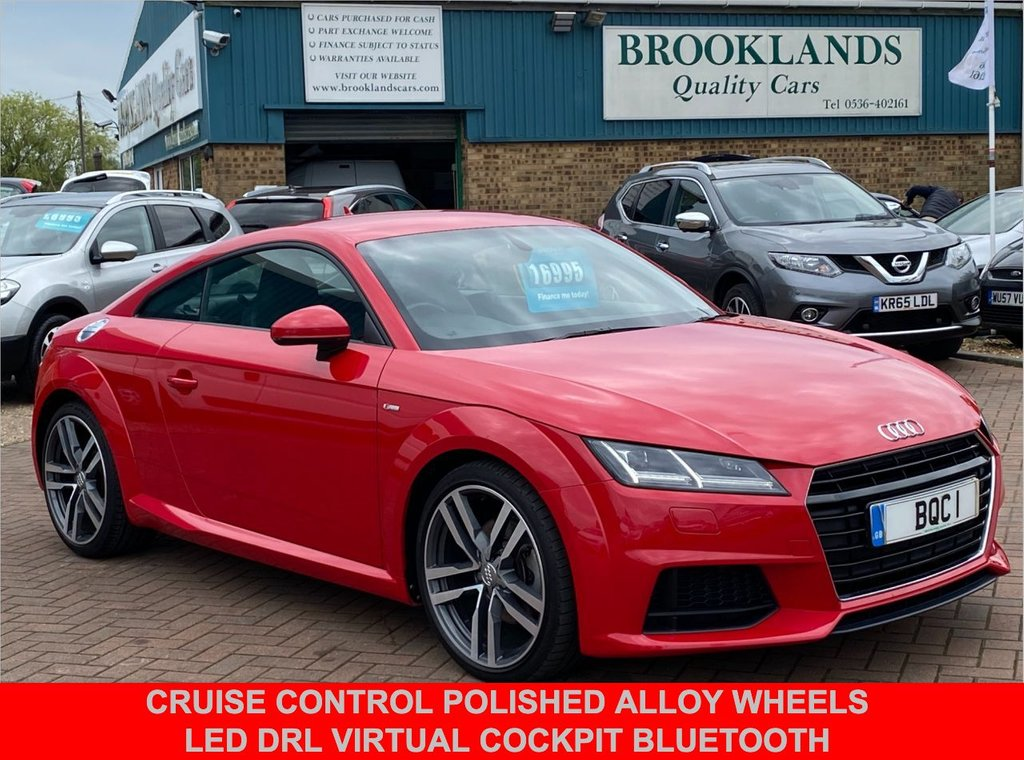 USED 2017 66 AUDI TT 1.8 TFSI S LINE Tango Red with Only 34152 miles 178 BHP Cruise Control Polished Alloy Wheels Virtual Cockpit Bluetooth