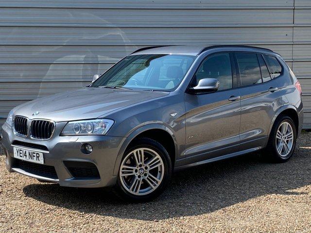 USED 2014 14 BMW X3 2.0 XDRIVE20D M SPORT 5d 181 BHP Xenon +Nevada Black Leather