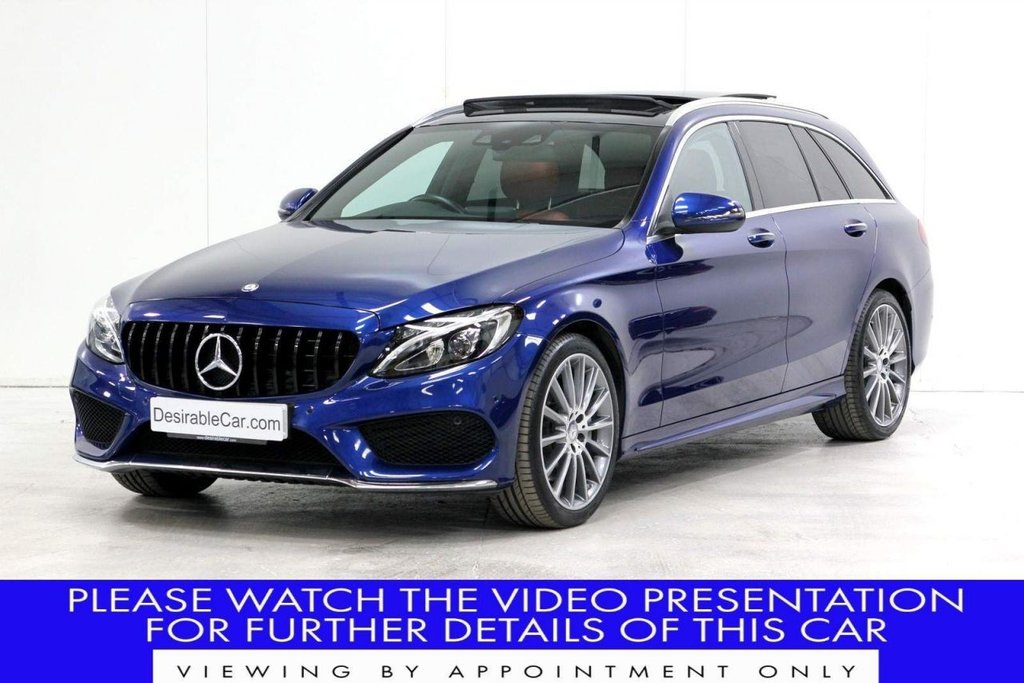 USED 2017 17 MERCEDES-BENZ C-CLASS 2.1 C250d AMG Line (Premium) G-Tronic+ (s/s) 5dr PANROOF*AMBIENT LIGHT*GTGRILLE