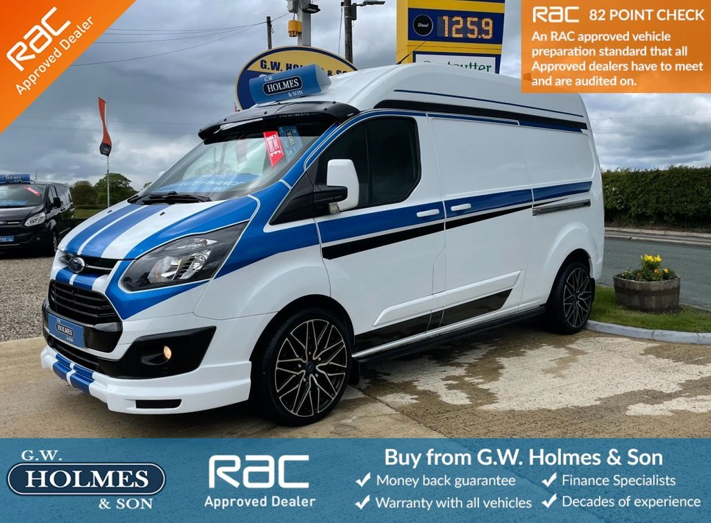 USED 2015 15 FORD TRANSIT CUSTOM 2.2 TDCI 330 125 BHP L2 H2 WITH A/C **SPORTS PACK**ONLY 46,000 MILES**