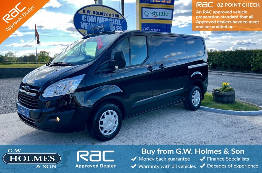 USED 2018 18 FORD TRANSIT CUSTOM TREND 2.0 TDCI 270 130 BHP L1 H1 IN PANTHER BLACK**DIRECT MAJOR LEASE**FSH**