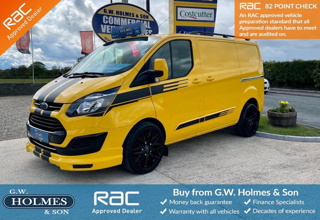 USED 2016 66 FORD TRANSIT CUSTOM 2.0 TDCI 340 130 BHP L1 H1 WITH TAILGATE **SPORTS PACK**ONLY 39K**FSH**