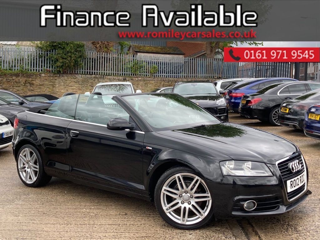 """USED 2012 12 AUDI A3 CABRIOLET 2.0 TDI S LINE 2d 138 BHP FULL SERVICE RECORD - 18"""" ALLOYS - LOVELY MILEAGE - AUTOMATIC"""