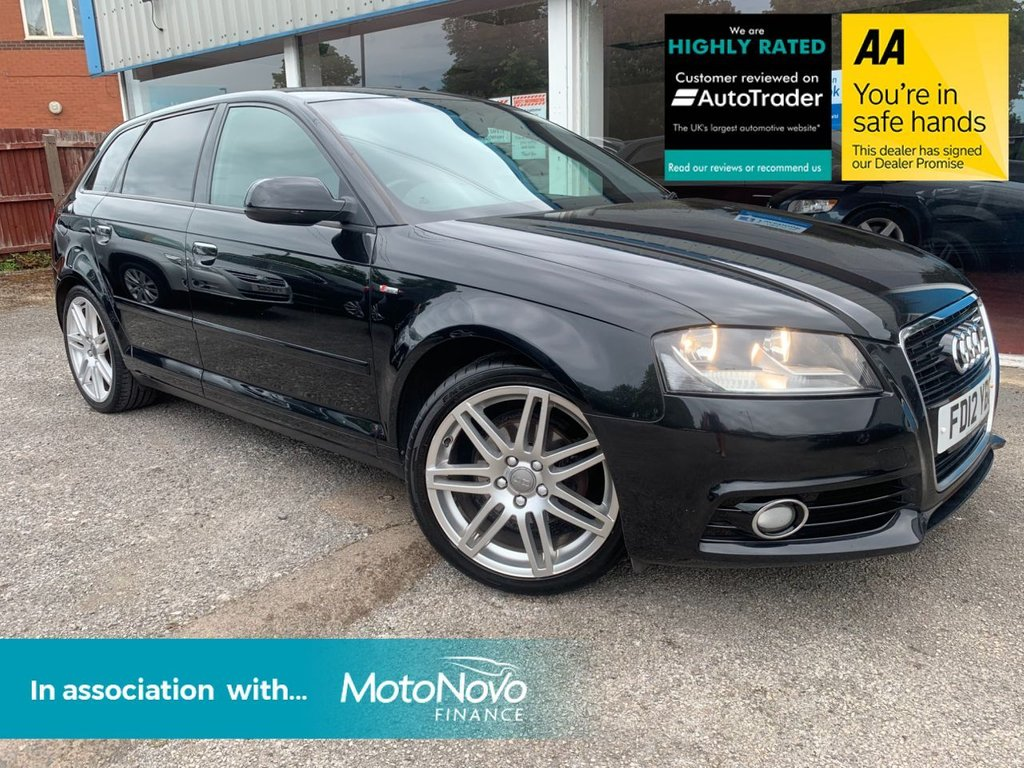 USED 2012 12 AUDI A3 1.6 TDI S LINE 5d 103 BHP REAR PARKING AID, 1/2 LEATHER, DAYTIME RUNNING LIGHTS, £20 A YEAR TAX