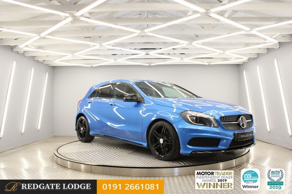 USED 2015 15 MERCEDES-BENZ A-CLASS 2.1 A200 CDI AMG NIGHT EDITION 5d 134 BHP SAT/NAV, NIGHT PACK, BLUETOOTH, FRONT AND REAR SENSORS, BLACK WING MIRRORS, PRIVACY GLASS..