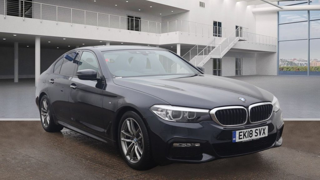 USED 2018 18 BMW 5 SERIES 2.0 520D M SPORT 4d AUTO 188 BHP +AUTOMATIC +M SPORT VERSION.