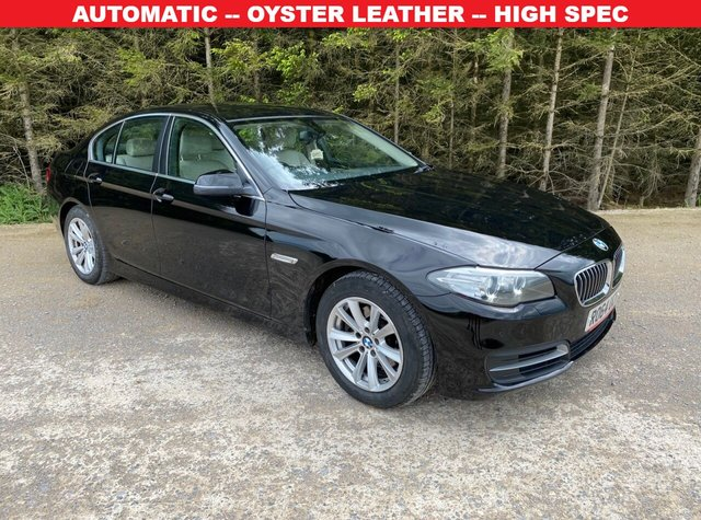 USED 2014 64 BMW 5 SERIES 2.0 520D SE 4d 188 BHP AUTOMATIC -- OYSTER LEATHER -- HIGH SPEC