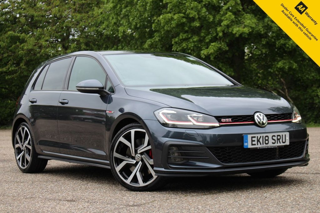 """USED 2018 18 VOLKSWAGEN GOLF 2.0 GTI PERFORMANCE TSI DSG 5d 242 BHP ** 1 OWNER FROM NEW ** UPGRADED DISCOVER PRO NAV SATELLITE NAVIGATION ** UPGRADED PANORAMIC SUNROOF ** UPGRADED 19"""" BRESCIA ALLOYS ** CRUISE CONTROL ** FRONT + REAR PARKING AID ** CLIMATE CONTROL ** HEATED SEATS ** ULEZ CHARGE EXEMPT ** 0 DEPOSIT FINANCE AVAILABLE ** CLICK AND COLLECT + NATIONWIDE DELIVERY AVAILABLE ** 14 DAY MONEY BACK GUARANTEE **"""
