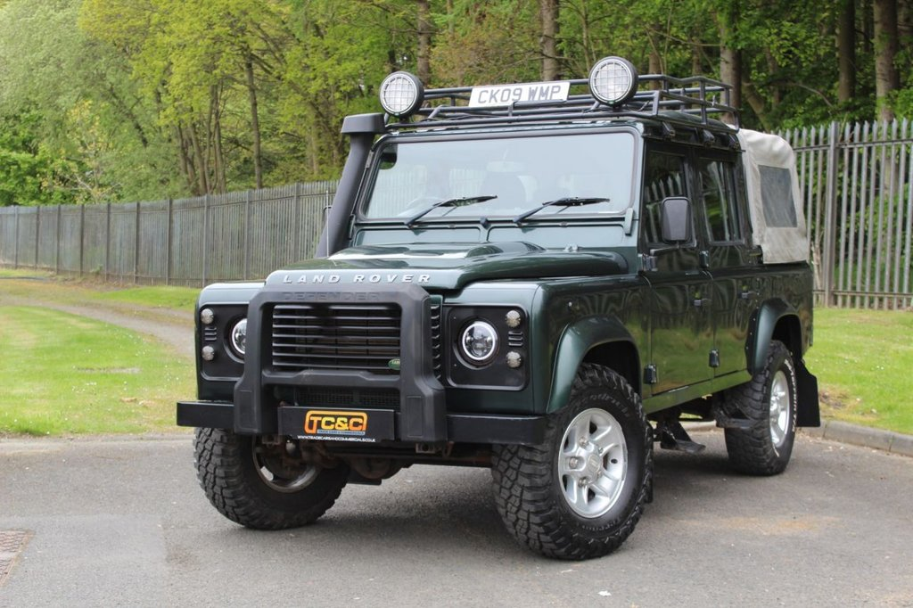 USED 2009 09 LAND ROVER DEFENDER 2.4 110 COUNTY DCB 4d 122 BHP