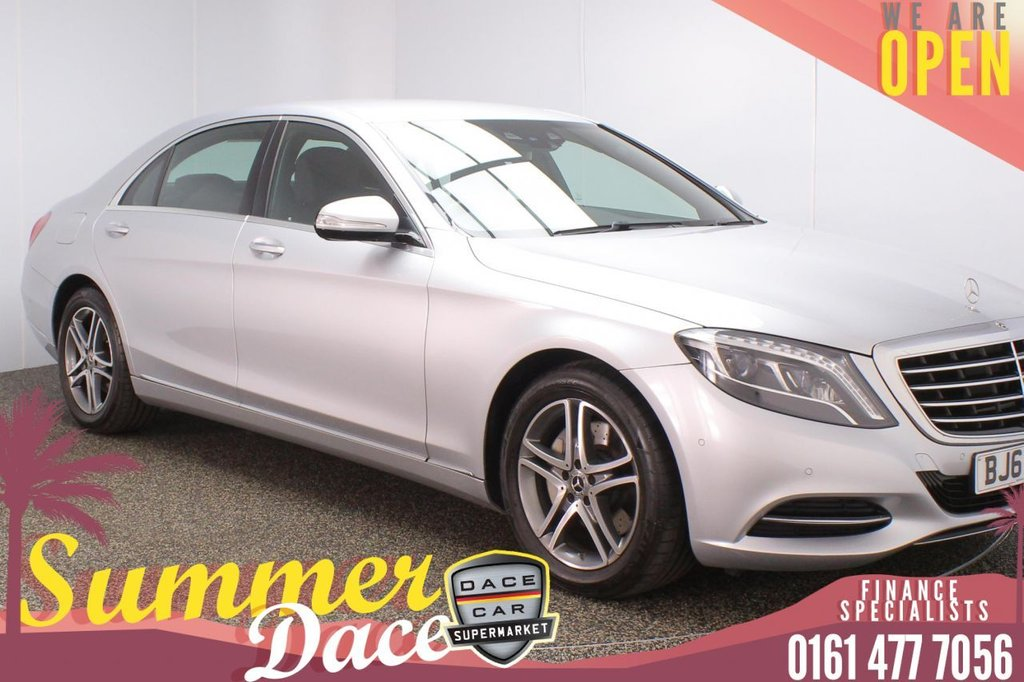 USED 2017 67 MERCEDES-BENZ S-CLASS 3.0 S 350 D L SE 4DR AUTO 255 BHP SERVICE HISTORY + HEATED LEATHER SEATS + SATELLITE NAVIGATION + REVERSING CAMERA + PARKING SENSOR + HEATED REAR SEATS + BLUETOOTH + CRUISE CONTROL + CLIMATE CONTROL + MULTI FUNCTION WHEEL + LED HEADLIGHTS + DAB RADIO + USB PORT + ELECTRIC WINDOWS + ELECTRIC/HEATED DOOR MIRRORS + 18 INCH ALLOY WHEELS