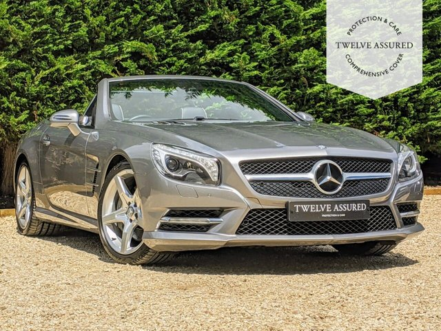 USED 2012 12 MERCEDES-BENZ SL 4.7 SL500 2d AUTO 435 BHP (1 OWNER & PAN ROOF)