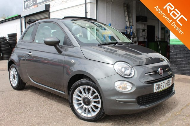 USED 2017 67 FIAT 500C 1.2 POP STAR 3d 69 BHP VIEW AND RESERVE ONLINE OR CALL 01527-853940 FOR MORE INFO.