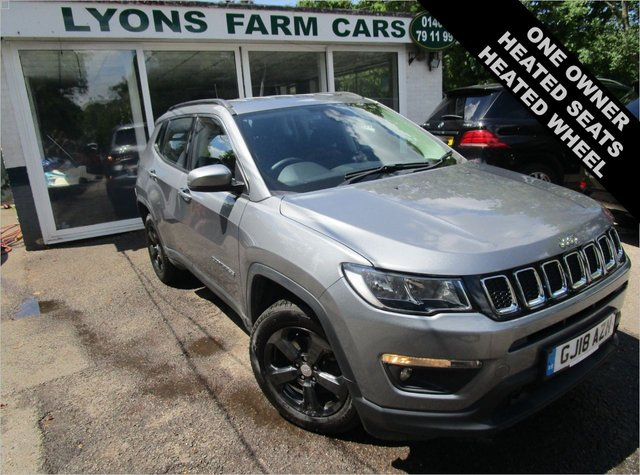 USED 2018 18 JEEP COMPASS 1.4 MULTIAIR II LONGITUDE 5d 138 BHP One Owner, Just Serviced, MOT until March 2022