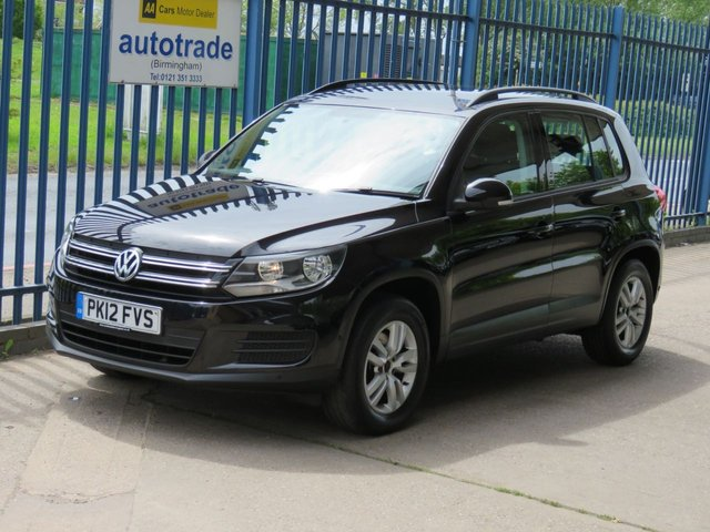 USED 2012 12 VOLKSWAGEN TIGUAN 2.0 S TDI BLUEMOTION TECHNOLOGY 5d 138 BHP DAB-CD-ACTIVE PARK ASSIST-A/C-SERVICE HISTORY WITH 6 STAMPS