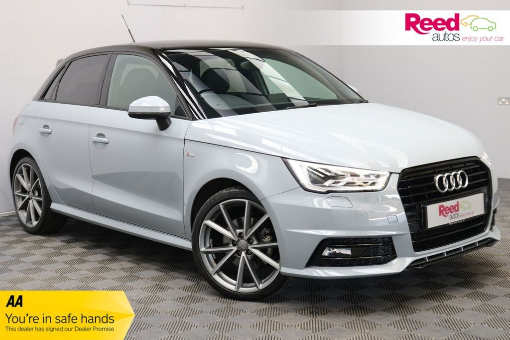 USED 2018 18 AUDI A1 1.4 SPORTBACK TFSI BLACK EDITION NAV 5d 123 BHP 1 OWNER+FULL SERV HIST+XENONS+1/2LEATHER+CRUISE CNTRL+LOW MILEAGE