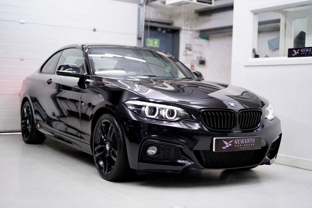 USED 2018 67 BMW 2 SERIES 2.0 220d M Sport Auto (s/s) 2dr TRIPLE BLACK +LEATHER +PRO NAV