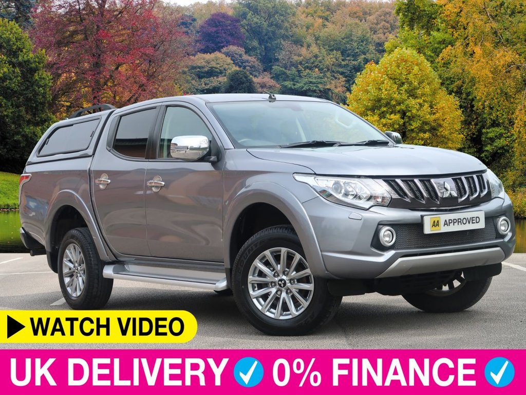 USED 2019 19 MITSUBISHI L200 2.4 DI-D Barbarian Double Cab Hardtop Canopy 4WD Hardtop Canopy Sat Nav Leather