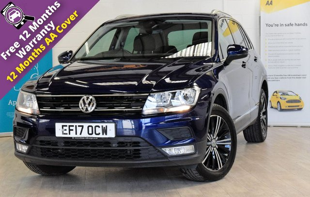 USED 2017 17 VOLKSWAGEN TIGUAN 2.0 SE NAV TDI BMT 4MOTION DSG 5d AUTO 148 BHP FULL SERVICE HISTORY, ELECTRIC TAILGATE, ELECTRIC FOLDING MIRRORS, TECHNOLOGY PACK, WINTER PACK, HEATED SEATS, LANE DEPARTURE, SAT NAV, CRUISE CONTROL