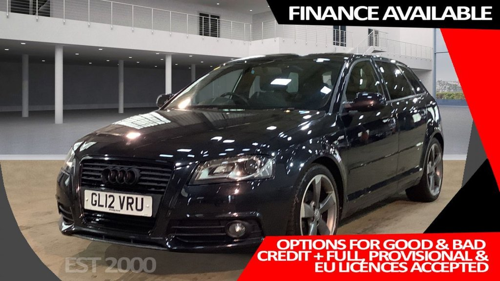 USED 2012 12 AUDI A3 2.0 SPORTBACK TDI S LINE SPECIAL EDITION 5d 138 BHP * PRIVACY GLASS * HALF LEATHER * ALLOY WHEELS * £30 A YEAR TAX *