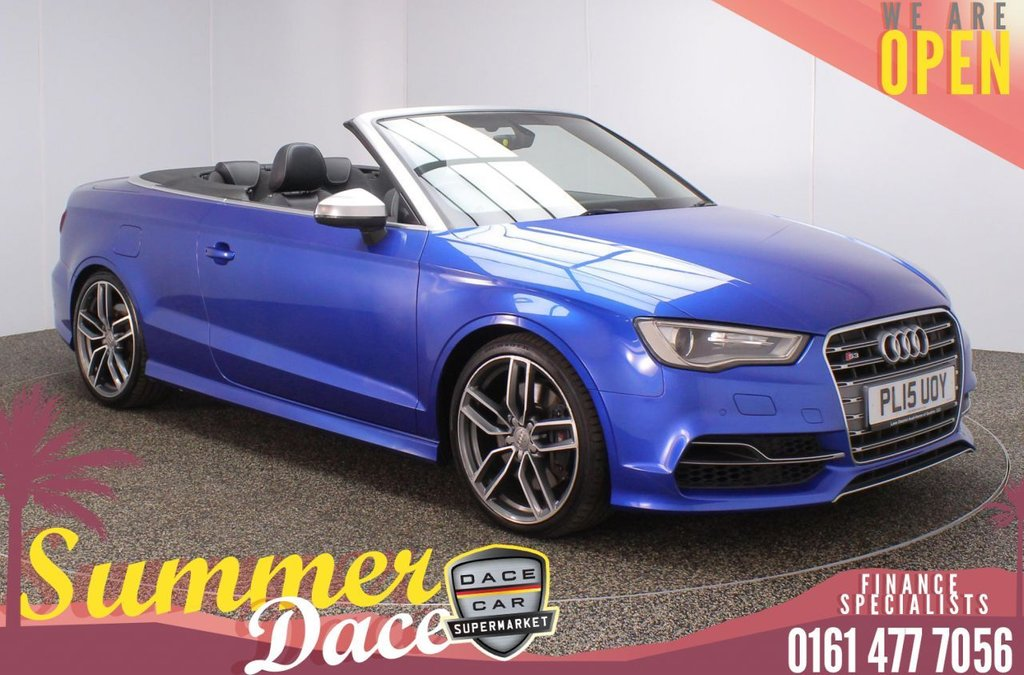 USED 2015 15 AUDI S3 2.0 S3 QUATTRO 2DR AUTO 296 BHP FULL MAIN DEALER SERVICE HISTORY + HEATED LEATHER SEATS + SATELLITE NAVIGATION + PARKING SENSOR + BLUETOOTH + CRUISE CONTROL + CLIMATE CONTROL + MULTI FUNCTION WHEEL + XENON HEADLIGHTS + DAB RADIO + ELECTRIC WINDOWS + ELECTRIC/HEATED/FOLDING DOOR MIRRORS + 19 INCH ALLOY WHEELS