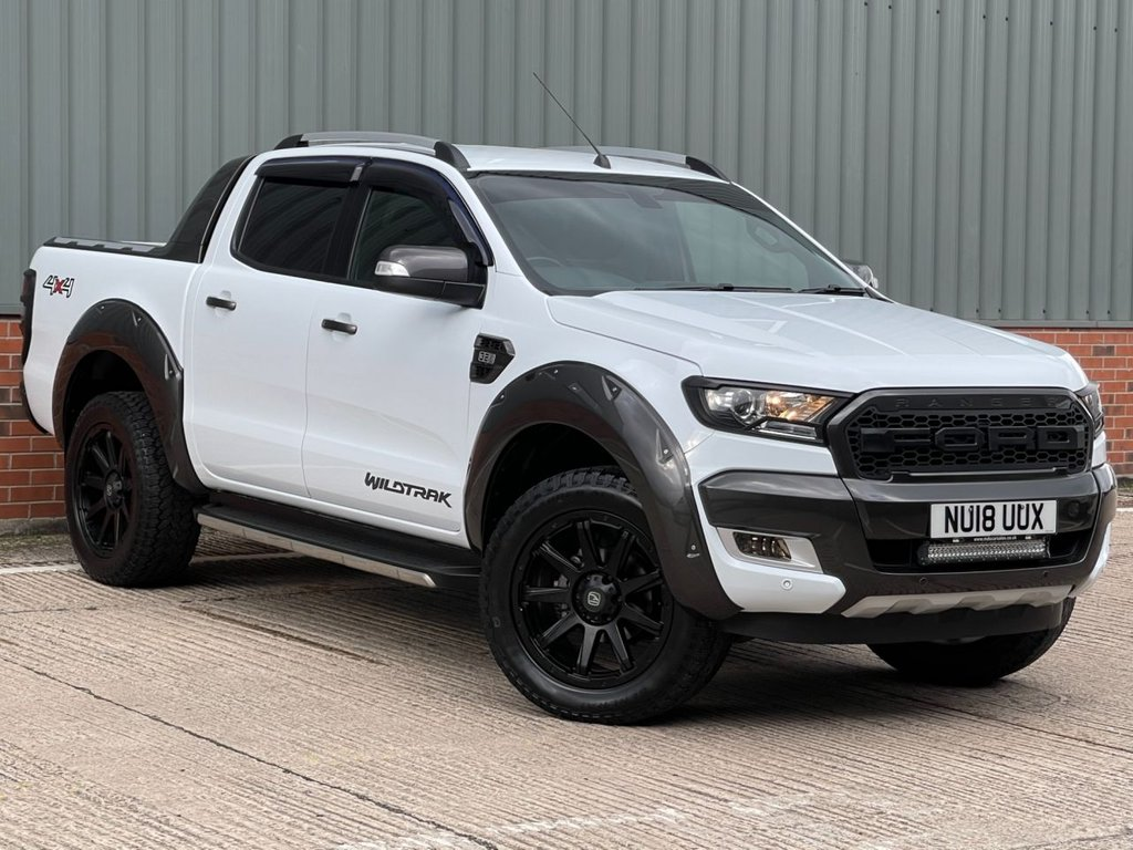 USED 2018 18 FORD RANGER 3.2 WILDTRAK 4X4 DCB TDCI 4d 197 BHP MASSIVE SPECIFICATION, NO VAT TO PAY