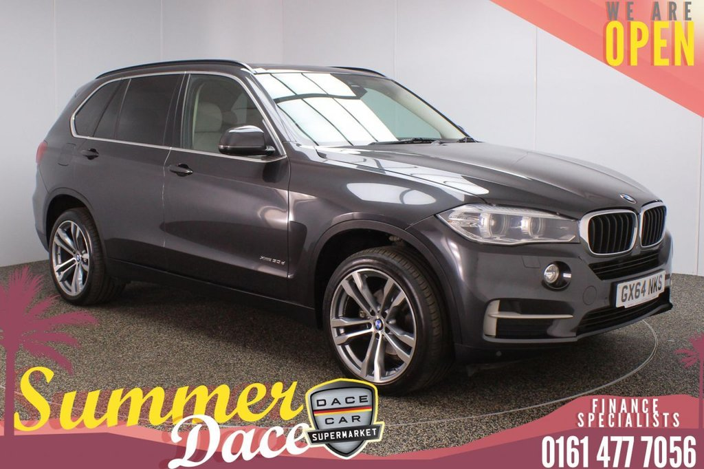 USED 2014 64 BMW X5 3.0 XDRIVE30D SE 5DR AUTO 255 BHP FULL SERVICE HISTORY + HEATED LEATHER SEATS + SATELLITE NAVIGATION + PANORAMIC SUNROOF + REVERSING CAMERA + PARKING SENSOR + LANE ASSIST SYSTEM + BLUETOOTH + CRUISE CONTROL + CLIMATE CONTROL + MULTI FUNCTION WHEEL + XENON HEADLIGHTS + PRIVACY GLASS + DAB RADIO + AUX/USB PORTS + ELECTRIC WINDOWS + ELECTRIC/HEATED/FOLDING DOOR MIRRORS + 20 INCH ALLOY WHEELS