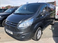 USED 2016 16 FORD TRANSIT CUSTOM 2.2 290 LIMITED 3 Seat Low Roof Massive High Spec Panel Van with NO VAT TO PAY and in Great Condition with Low Mileage Full Service History