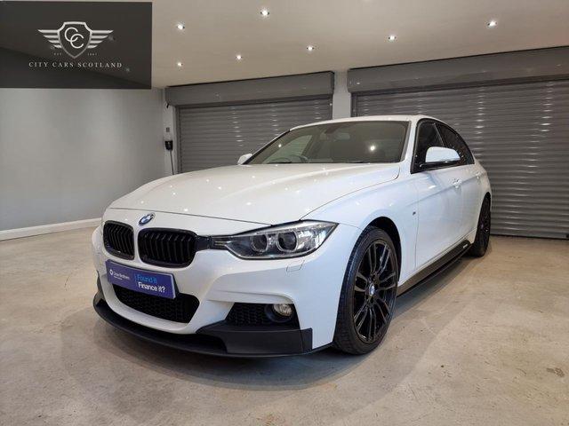 USED 2015 15 BMW 3 SERIES 2.0 318D M SPORT 4d 141 BHP M PERFORMANCE BODY KIT + FULL BMW SERVICE HISTORY + BLACK LEATHER SEATS