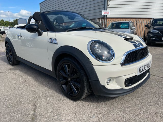 USED 2014 64 MINI ROADSTER 1.6 COOPER S 2d 181 BHP *** FINANCE & PART EXCHANGE WELCOME *** 1 OWNER ELECTRIC ROOF HALF LEATHER HEATED SEATS BLUETOOTH PHONE PARKING SENSORS