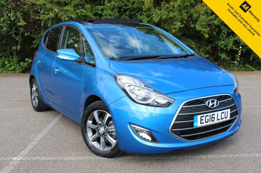 USED 2016 16 HYUNDAI IX20 1.4 PREMIUM BLUE DRIVE 5d 89 BHP ** 1 OWNER FROM NEW ** FULL MAIN DEALER HYUNDAI SERVICE HISTORY ** BRAND NEW ADVISORY FREE MOT - JUNE 2022 EXPIRY ** FRESHLY SERVICED MAY 2021 ** PANORAMIC GLASS OPENING SUNROOF ** REAR PARKING AID ** CRUISE CONTROL ** BLUETOOTH + VOICE COMMAND ** AIR CONDITIONING ** AUTO LIGHTS ** POWER FOLDING MIRRORS **ULEZ CHARGE EXEMPT ** NATIONWIDE DELIVERY AVAILABLE ** BUY ONLINE IN CONFIDENCE FROM A MULTI AWARD WINNING 5* RATED DEALER **