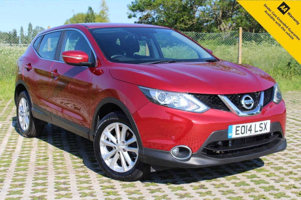 USED 2014 14 NISSAN QASHQAI 1.6 DCI ACENTA SMART VISION 5d 128 BHP ** FULL SERVICE HISTORY ** FRESHLY SERVICED JUNE 2021 WITH NEW FRONT BRAKE PADS ** LONG MOT - EXPIRY MARCH 2022 ** FRONT + REAR PARKING AID ** BLUETOOTH ** CRUISE CONTROL ** AUTO LIGHTS + WIPERS ** POWER FOLDING MIRRORS ** PAINT + FABRIC PROTECTED ** ONLY £30 ROAD TAX ** NATIONWIDE DELIVERY AVAILABLE ** BUY ONLINE IN CONFIDENCE FROM A MULTI AWARD WINNING 5* RATED DEALER **