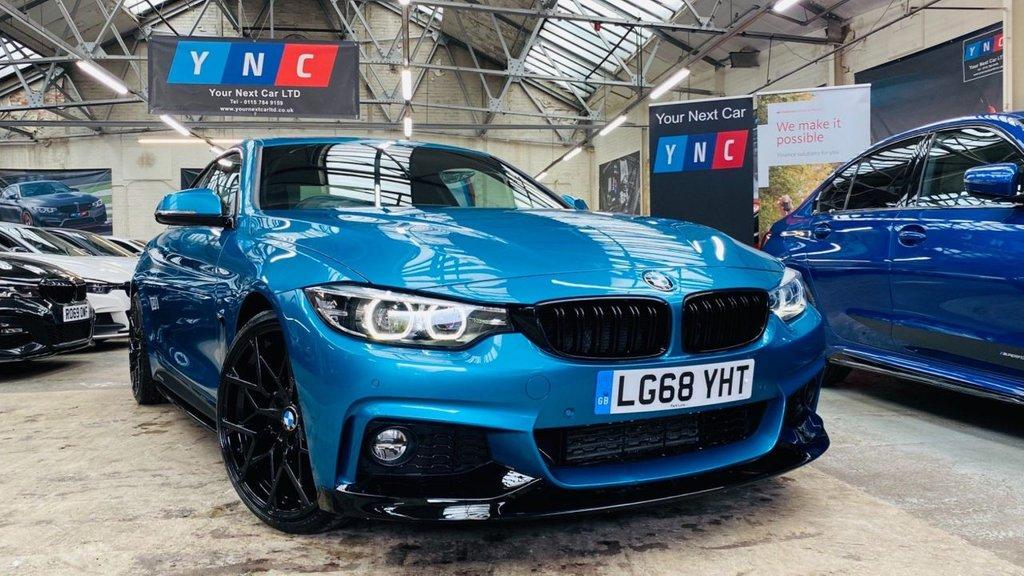 USED 2018 68 BMW 4 SERIES 2.0 420d M Sport Auto (s/s) 2dr PERFORMANCEKIT+20S+FMDSH