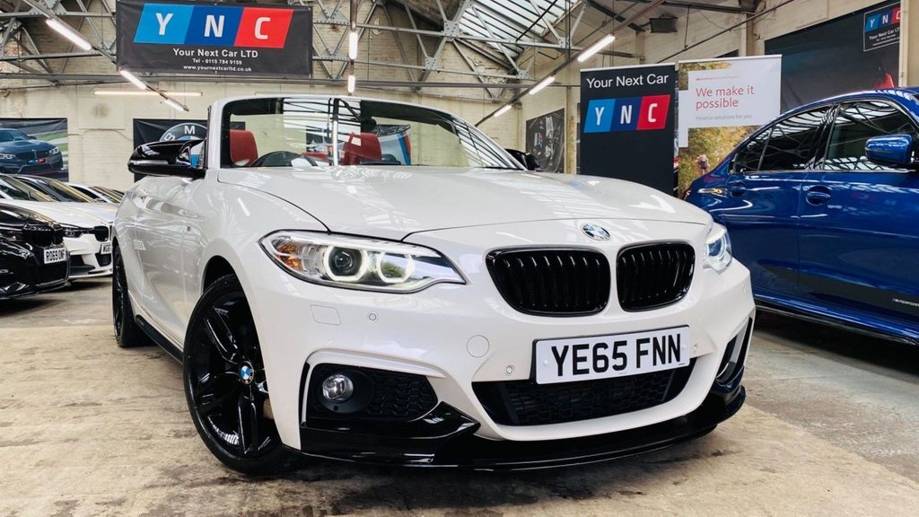 USED 2016 65 BMW 2 SERIES 2.0 220d M Sport Auto (s/s) 2dr PERFORMANCEKIT+REDLEATHER+18S