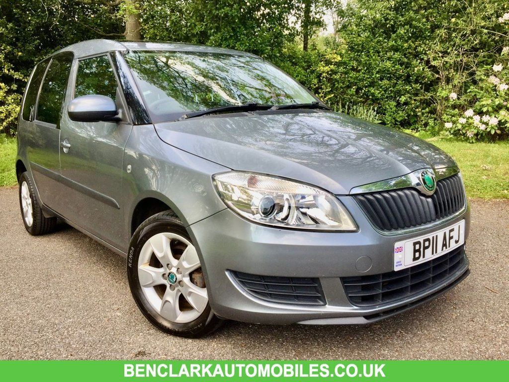 USED 2011 11 SKODA ROOMSTER 1.2 SE TSI 5d 84 BHP PANORAMIC GLASS SUNROOF//ALLOYS//AIRCON// GREAT CONDITION FOR ITS YEAR,,,RARE PETROL MODAL