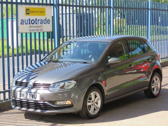 USED 2017 17 VOLKSWAGEN POLO 1.2 MATCH EDITION TSI 5d 89 BHP. CRUISE CONTROL-FRONT AND REAR PARK ASSIST-A/C-DAB-BLUETOOTH 1 OWNER-FRONT AND REAR PARK ASSIST-CRUISE-DAB-A/C-POWER FOLD MIRRORS-SERVICE HISTORY WITH 2 STAMPS