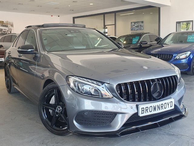 USED 2017 17 MERCEDES-BENZ C-CLASS 2.1 C 250 D AMG LINE PREMIUM PLUS 4d 204 BHP BRM BODY STYLING+PAN ROOF